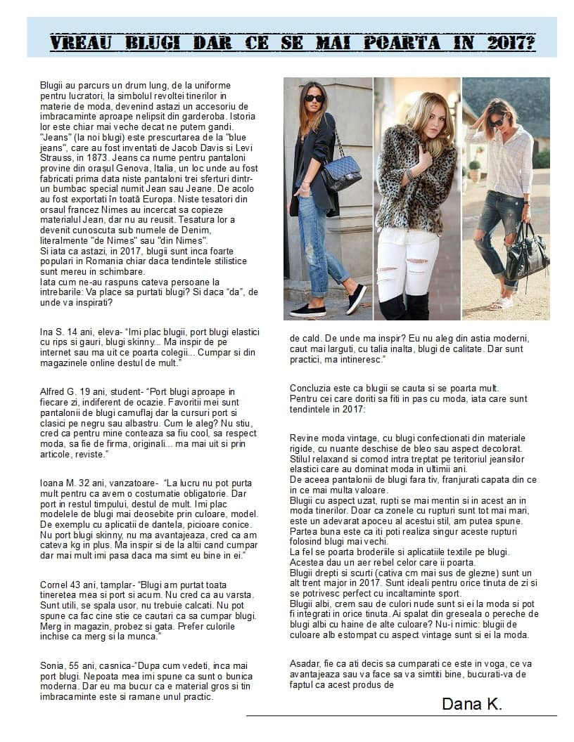 articol moda