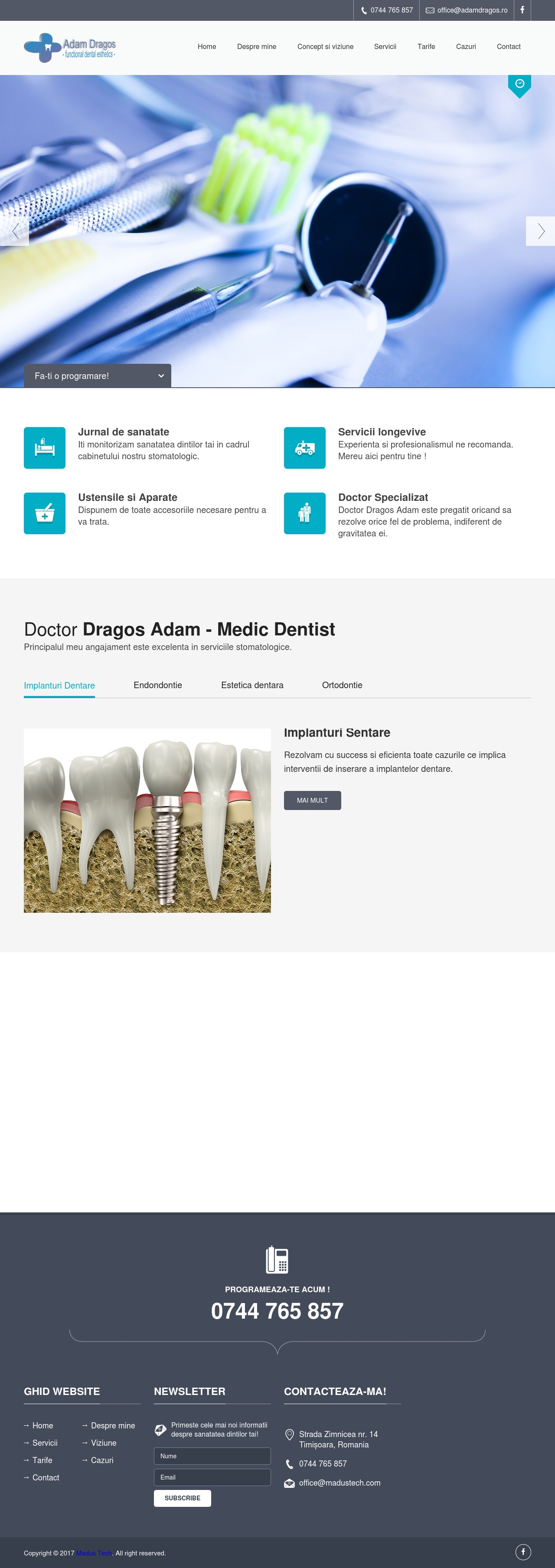Website Medic Dentist