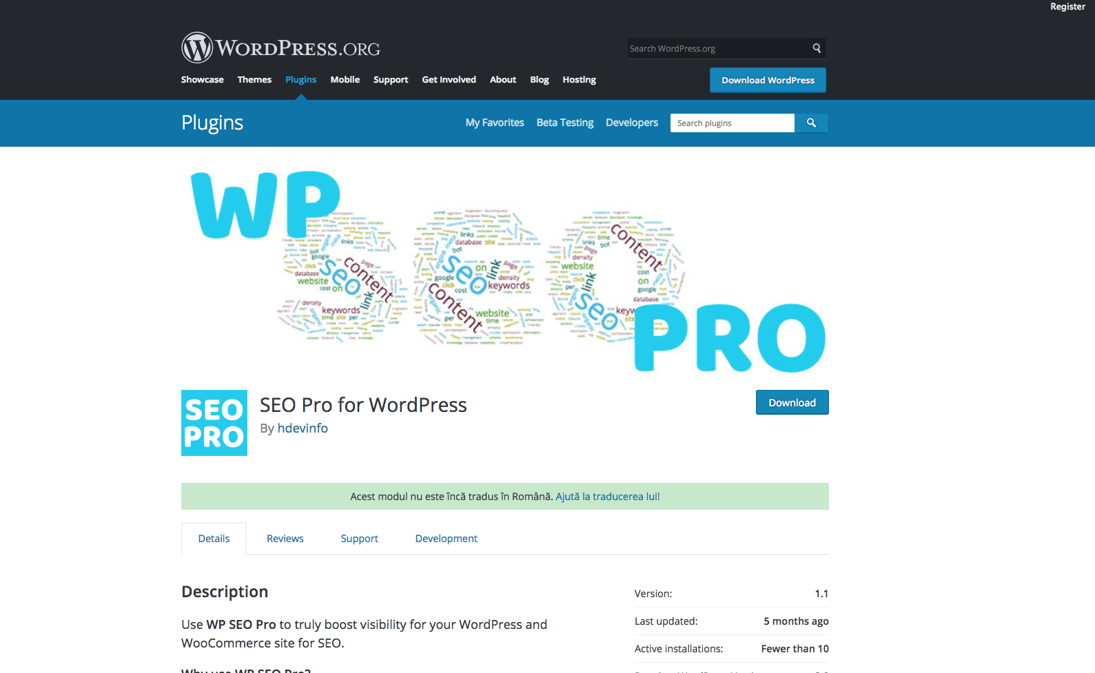 Modul SEO For WordPress