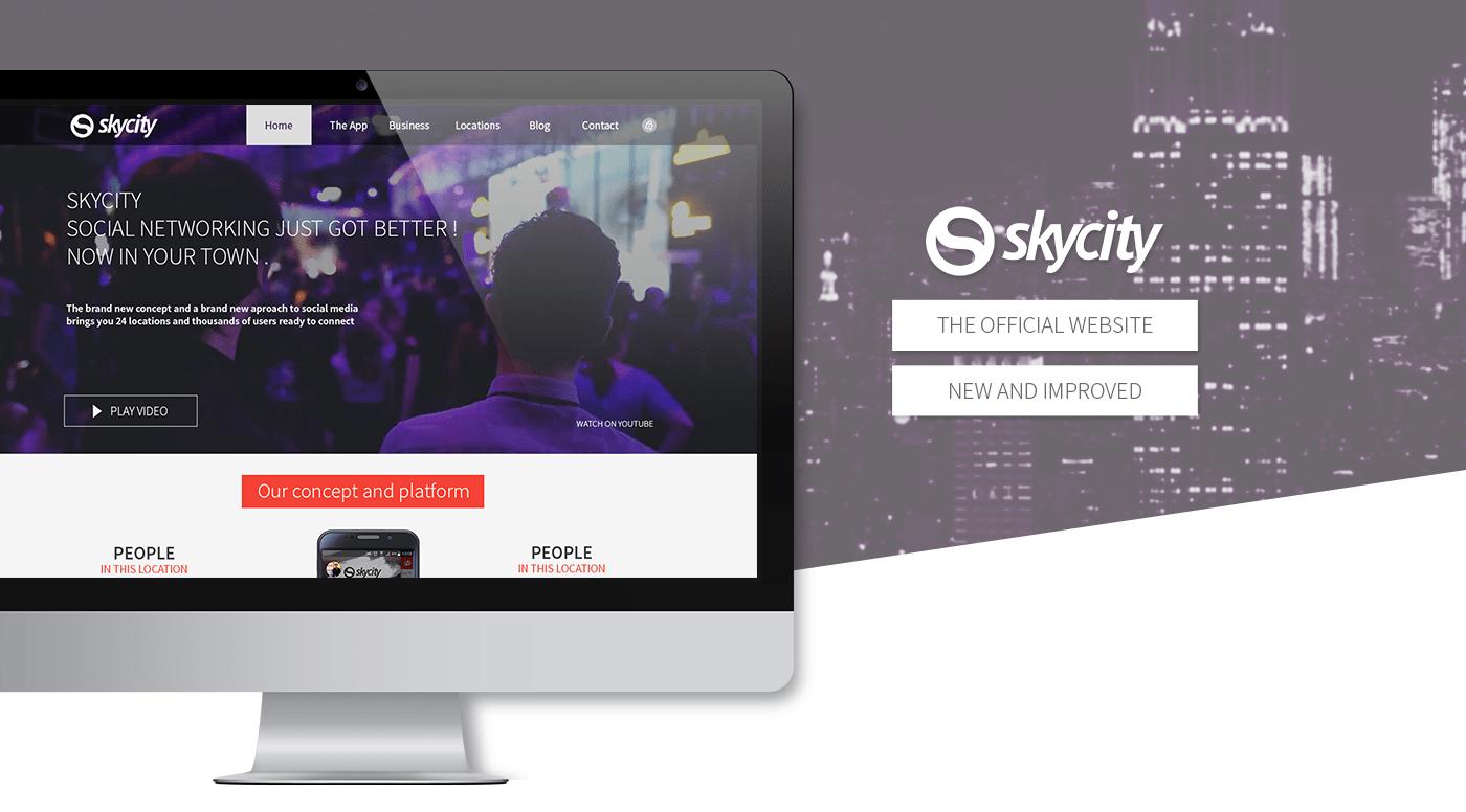 Website for Mobile Social Network - Sycity(Skycity)