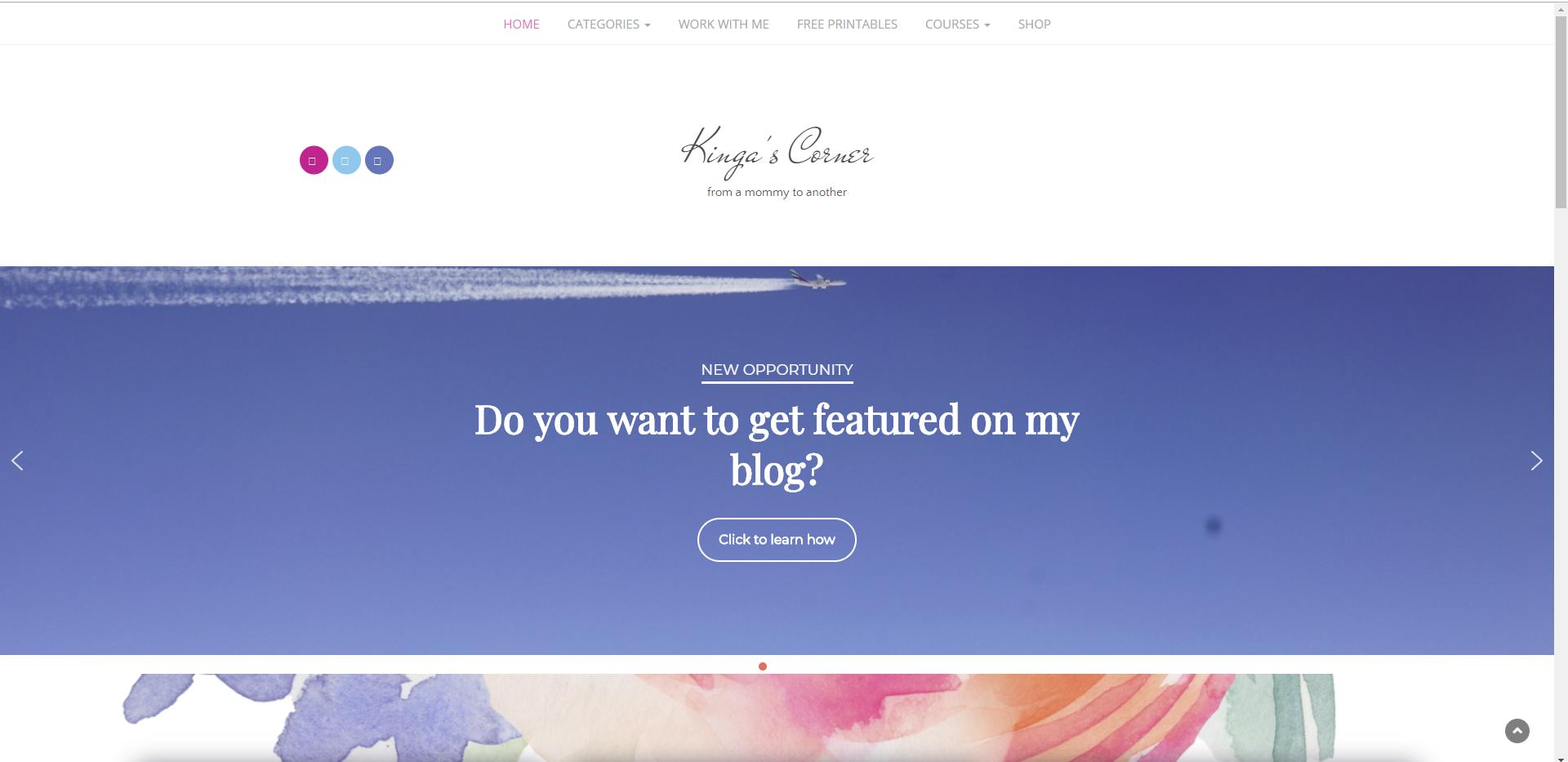 Exemplu Website/Blog