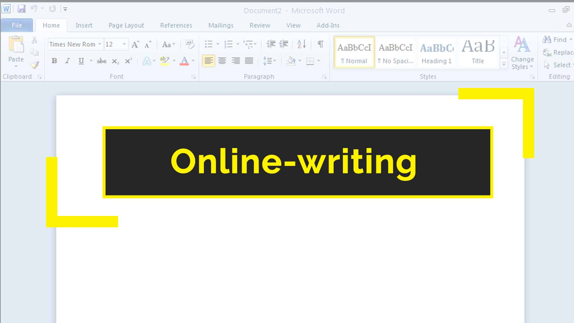 Online-writing